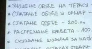 Ako ste mislili da volim da budem sluga, prevarili ste se: Mama Zorica postavila HIT CENOVNIK za kućne poslove