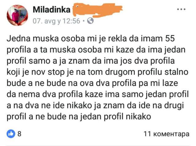 Šta je pisac hteo da kaže: Baba Miladinka ostavila status na Fejsbuku koji ni najveći genijalci ne mogu da raščivijaju