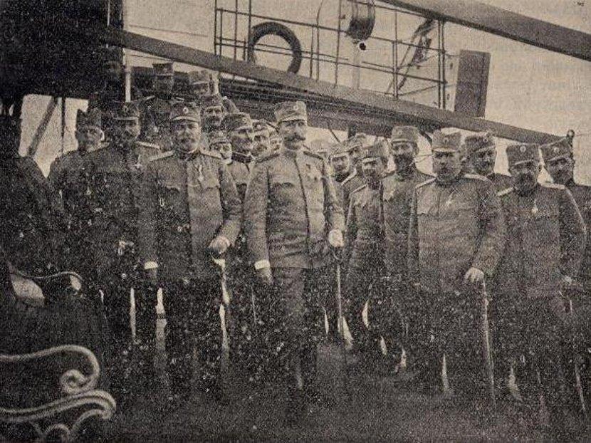 Petar Bojović za vreme Balkanskih ratova u Štabu Srpskog prekomorskog kora. Foto: Wikimedia Commons/ubsm.bg.ac.rs
